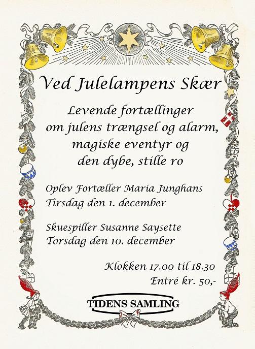 Julefortællinger ved skuespiller Susanne Saysette på museet Tidens Samling