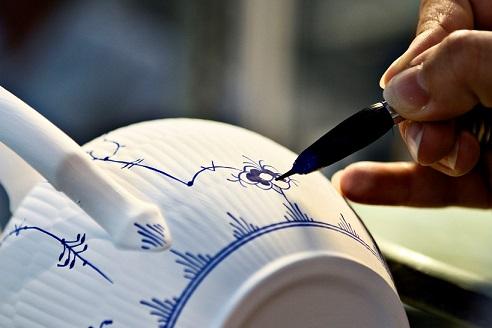 Musselmalet, Dansk design ABC, M for musselmalet, særudstilling 2012, Tidens Samling, museum for klæder, form og bolig i det 20. århundrede, Odense