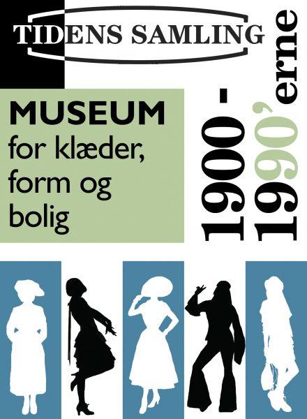 Plakat for Tidens Samling i Odense - museum for klæder, form og bolig i det 20. århundrede